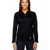 Ladies' Radar Half-Zip Performance Long-Sleeve Top