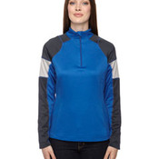Ladies' Quick Performance Interlock Half-Zip Top