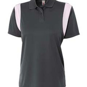Ladies' Color Blocked Polo w/ Knit Collar