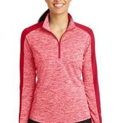 Ladies PosiCharge ® Electric Heather Colorblock 1/4 Zip Pullover