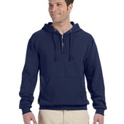 8 oz., 50/50 NuBlend® Fleece Quarter-Zip Pullover Hood