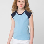 4277 Youth Baby Rib Cap Sleeve Raglan